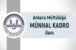 Ankara Müftülüğü Kasım 2018 Münhal Kadrolar