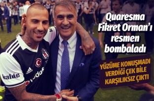 Quaresma, Beşiktaş Başkanı Fikret Orman'ı bombaladı