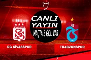 Trabzonspor, Sivas maçı Canlı Yayın/Trabzon hızlı başladı/Maçta 3 gol var
