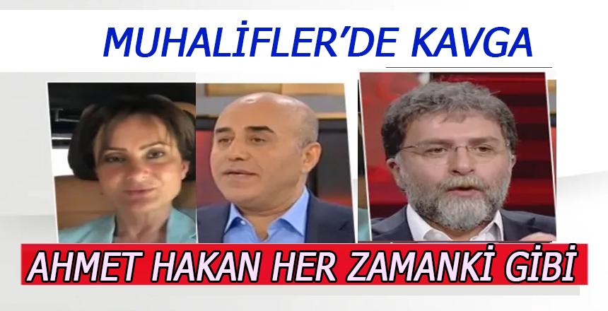 Muhalif Cephede Kavga çıktı Ahmet Hakan tarafını seçti