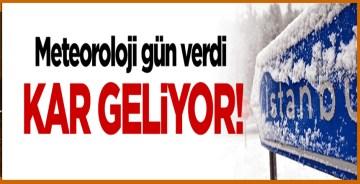 Meteoroloji uyardı: İstanbul'a kar geliyor!