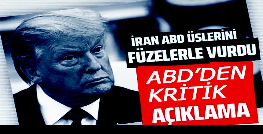 İran ABD üslerini balistik füzelerle vurdu! Trump'tan açıklama