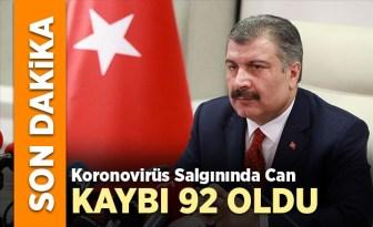 Türkiye'de can kaybı 92 oldu