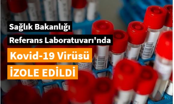 Kovid-19 virüsü izole edildi