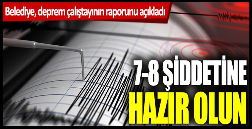 Belediye, deprem çalıştayının raporunu açıkladı: 7-8 şiddetine hazır olun