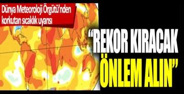 Dünya Meteoroloji Örgütü'nden korkutan sıcaklık uyarısı: 'Rekor kıracak önlem alın'
