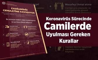 Koronavirüs sürecinde camilerde uyulması gereken kurallar