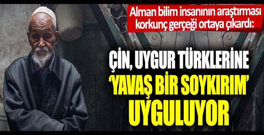 Alman bilim insanının araştırması korkunç gerçeği ortaya çıkardı: Çin, Uygur Türklerine 'Yavaş bir soykırım' uyguluyor