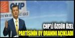 CHP'li Özgür Özel partisinin oy oranını açıkladı