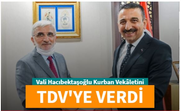 Siirt Valisi Hacıbektaşoğlu kurban vekaletini Türkiye Diyanet Vakfı'na verdi