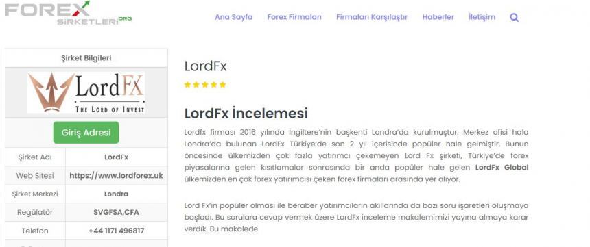 Lord Fx Hakkında Detaylı İnceleme