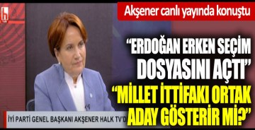 Meral Akşener canlı yayında konuştu
