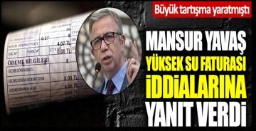 """Sayaçlarda hata var su faturaları yüksek geliyor"""" iddialarına Mansur Yavaş'tan cevap"""
