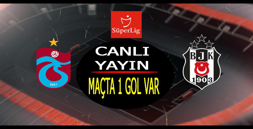 Trabzonspor Beşiktaş maçı CANLI YAYIN/Maçta 4 gol var