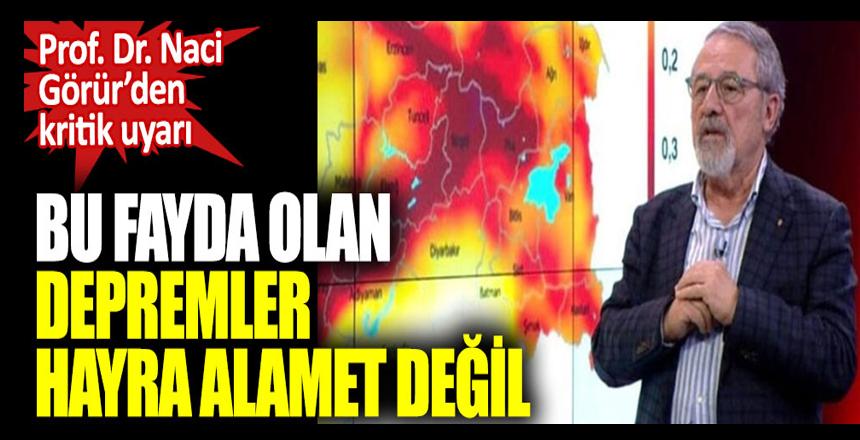Prof. Dr. Naci Görür'den Kumburgaz fayı için kritik uyarı. Bu fayda olan depremler hayra alamet değil