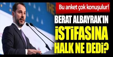 Berat Albayrak'ın istifasına halk ne dedi?