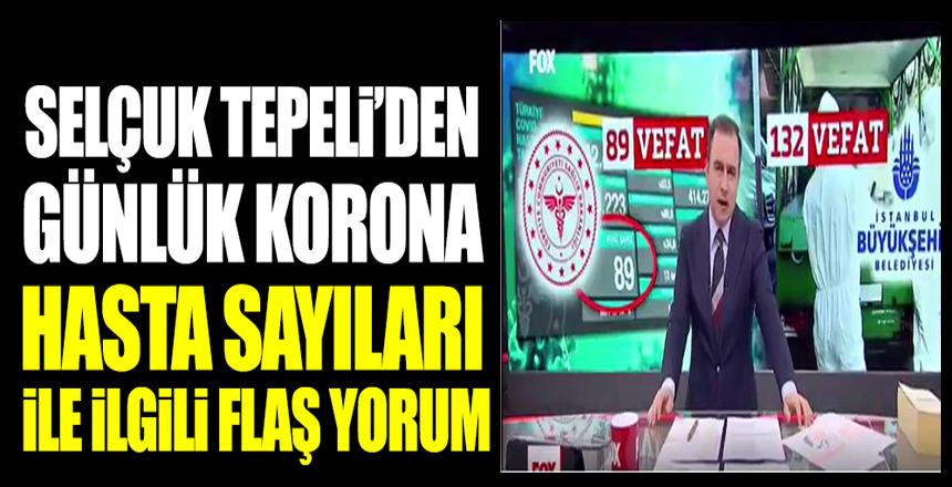 Selçuk Tepeli'den günlük korona hasta sayıları ile ilgili flaş yorum