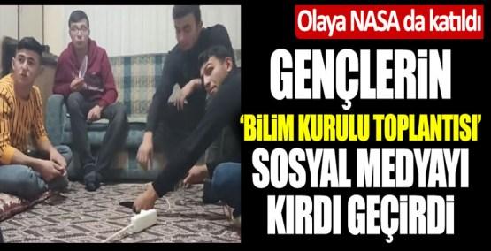 Gençlerin Bilim Kurulu toplantısı sosyal medyayı kırdı geçirdi! Olaya NASA'nın Türkiye hesabı da dahil oldu