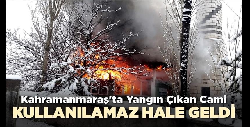 Yangında ağır hasar gören Mahmutbey Cami, kullanılamaz hale geldi