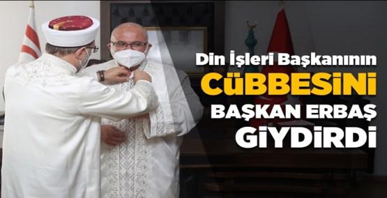 KKTC Din İşleri Başkanının cübbesini Prof. Dr. Ali Erbaş giydirdi