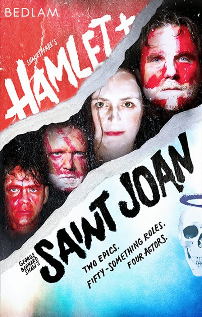 Bedlam poster for Hamlet and Saint Joan