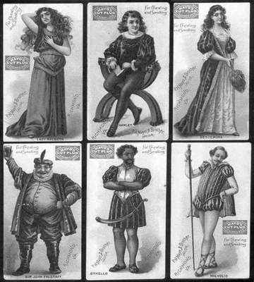Shakespeare vintage character cards