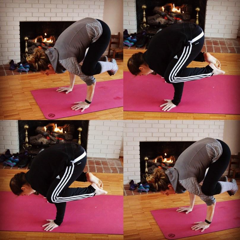 Yoga Crow pose Bakasana