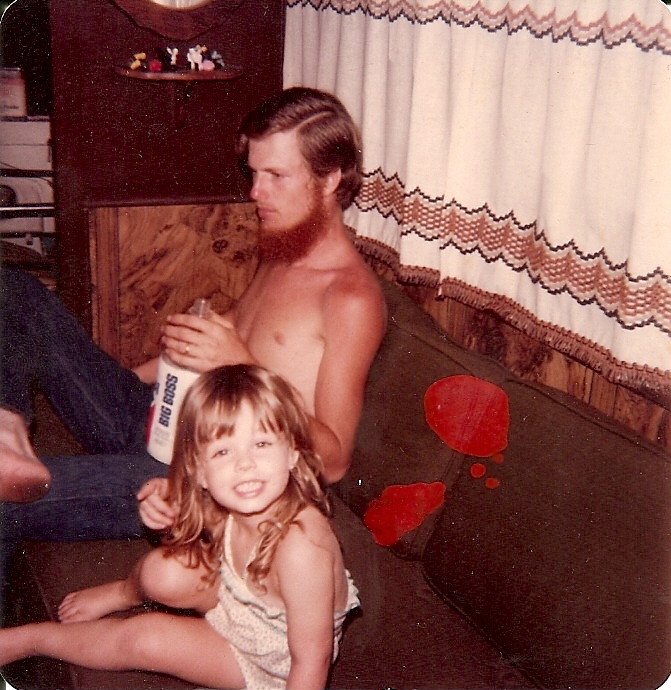 Amy Lyon Smith and her dad