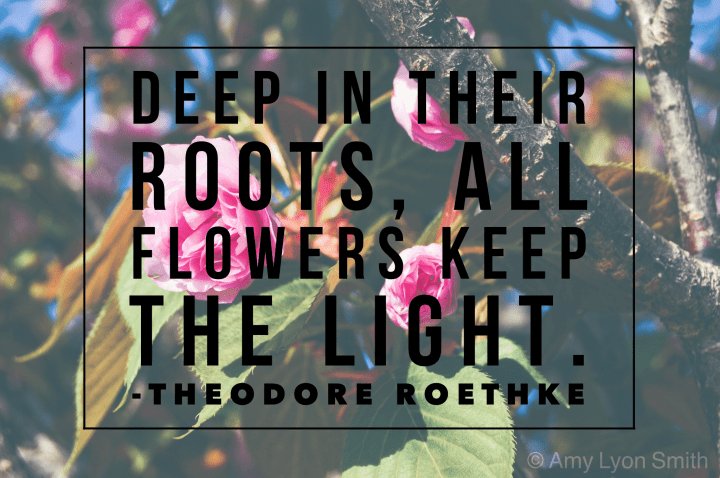 Deep in their roots, all flowers keep the light - Theodore Roethke