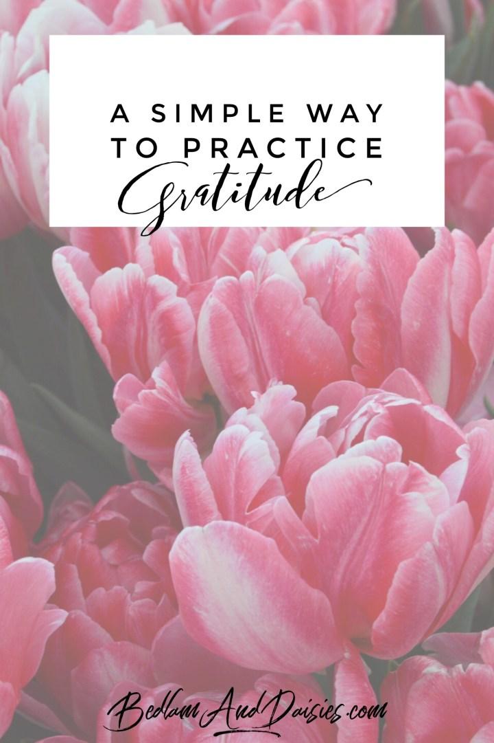 A simple way to practice gratitude