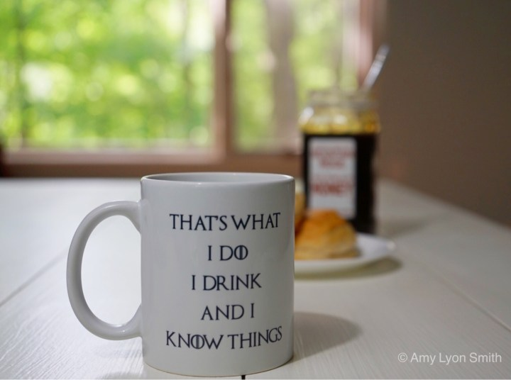 That's what I do. I drink and I know things coffee mug