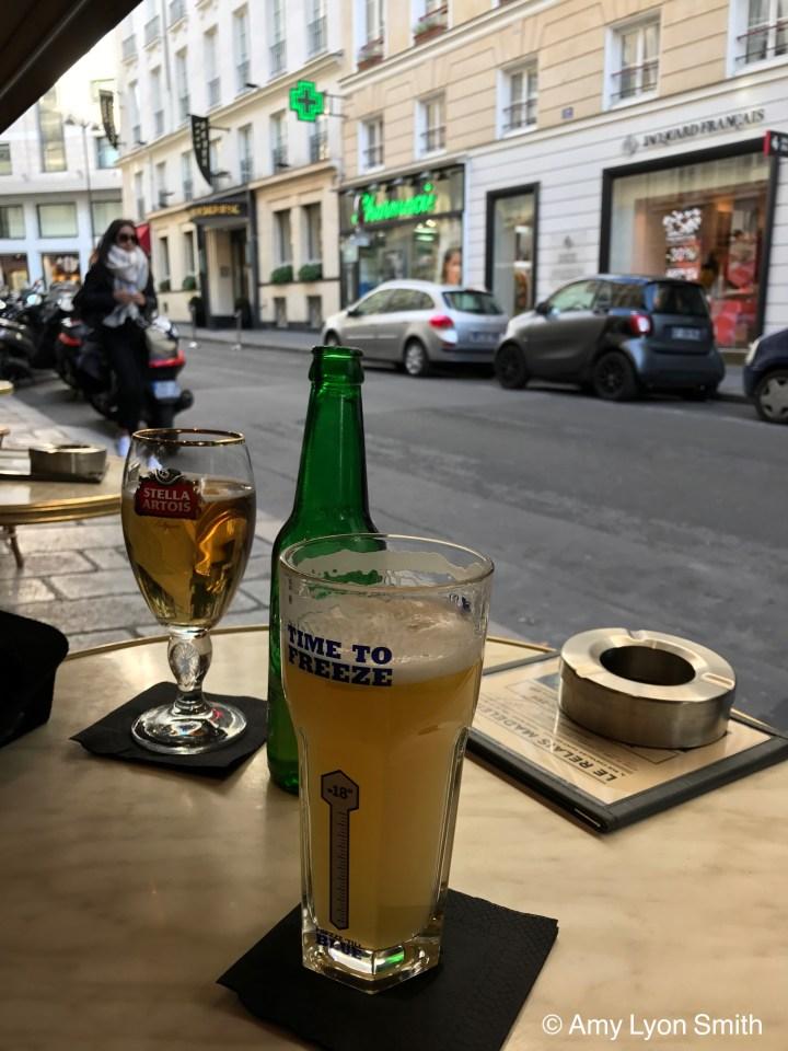 Beer at Paris Cafe