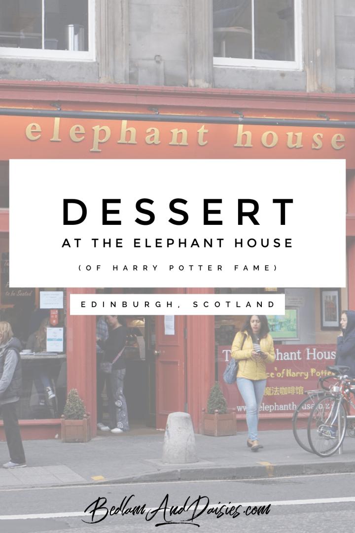 Dessert at The Elephant House Harry Potter Edinburgh Scotland