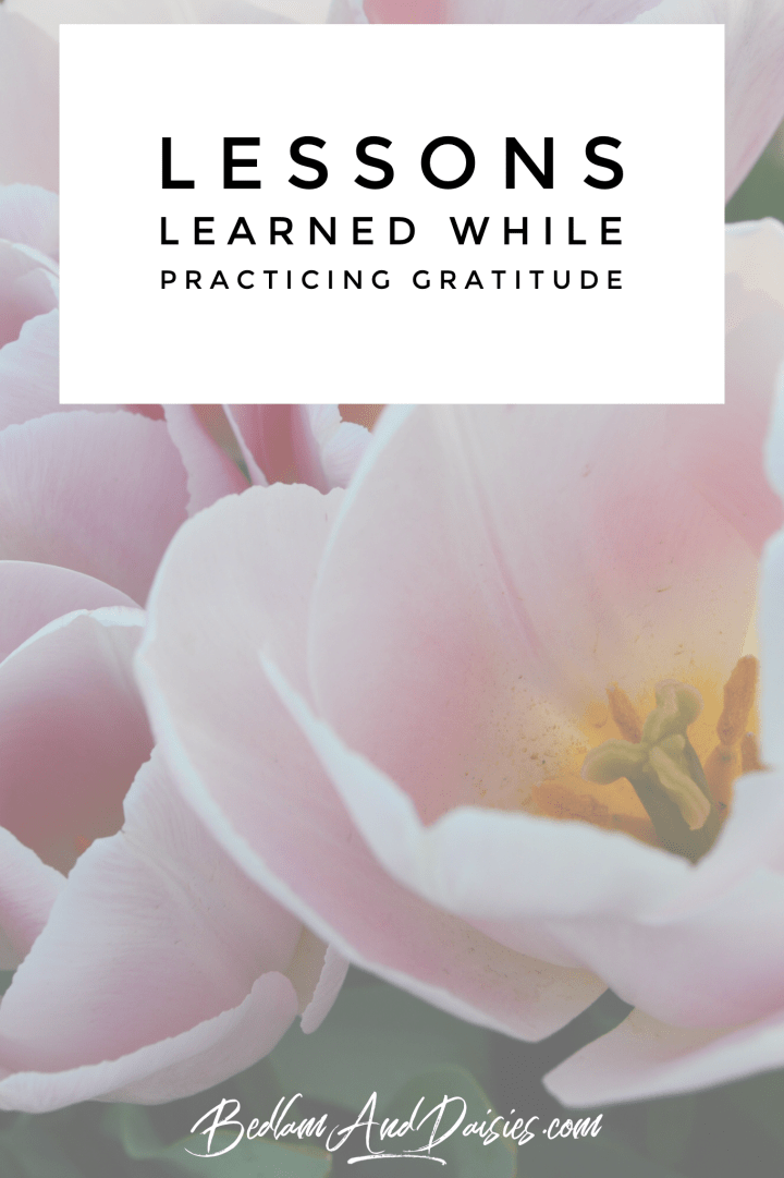 Lessons Learned While Practicing Gratitude