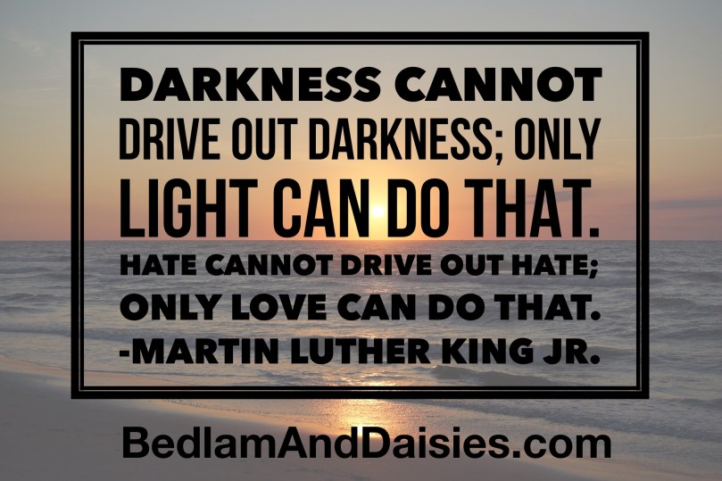 Darkness cannot drive out darkness; only light can do that. Hate cannot drive out hate; only love can do that. - Martin Luther King Jr quote quotes photoquote