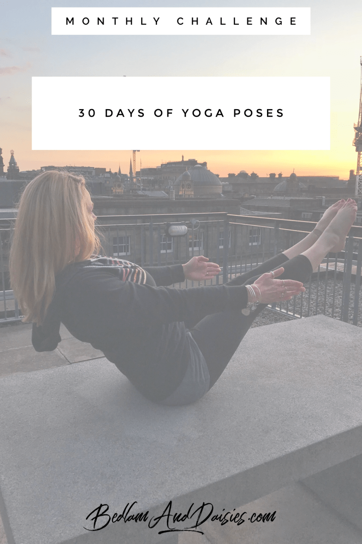 30 Days of Yoga Poses monthly challenge