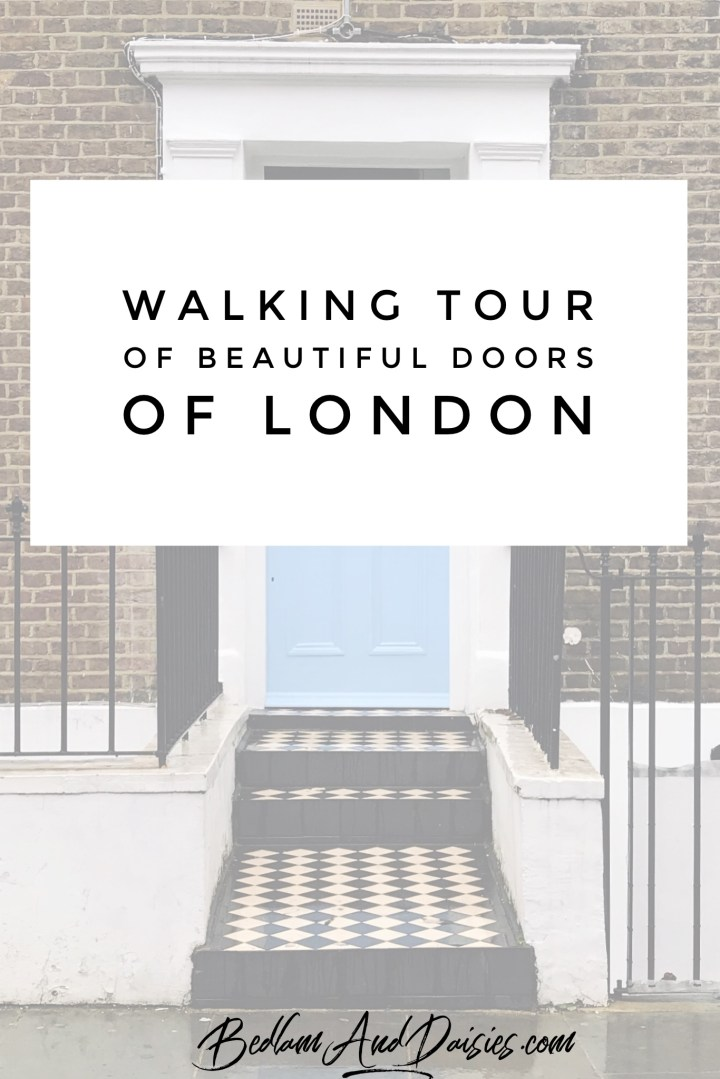 Walking tour of beautiful doors of london