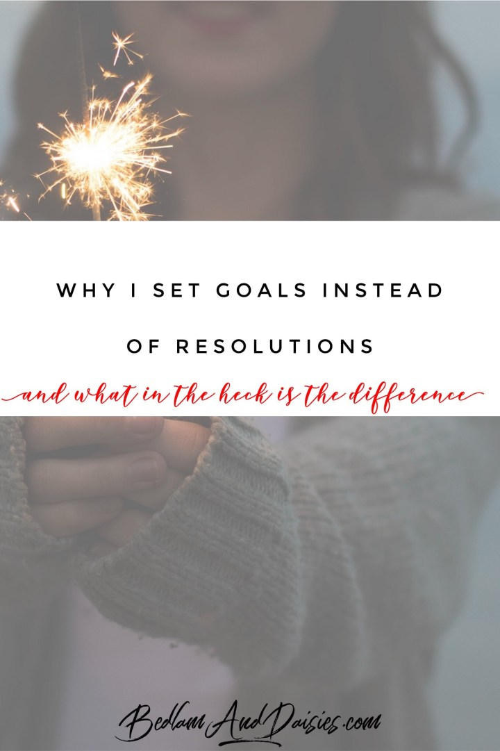 Why I Set Goals Instead of Resolutions
