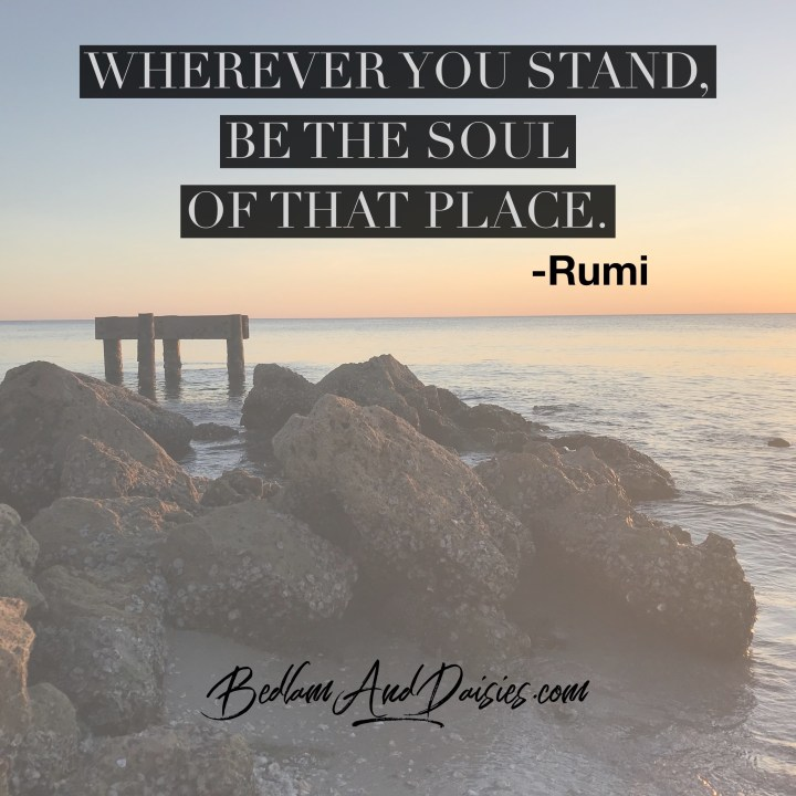 Wherever you stand, be the soul of that place. - Rumi