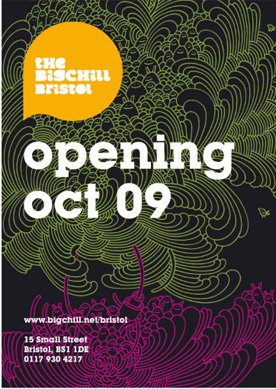 Big Chill Bristol - see Bedmo Disco there on Friday Oct 9th