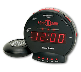 loud alarm clock for deaf and narcoleptics