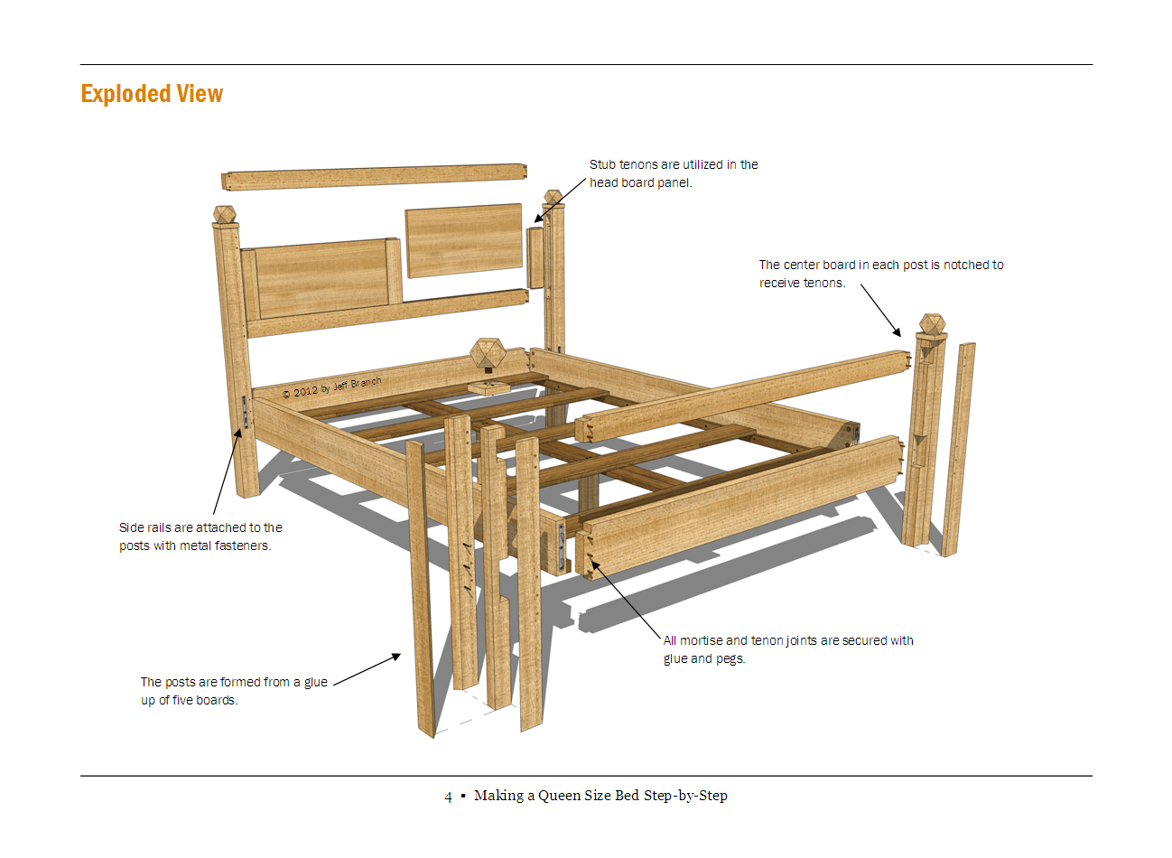 Woodworking Furniture Plans Bed Diy Blueprint Plans Download