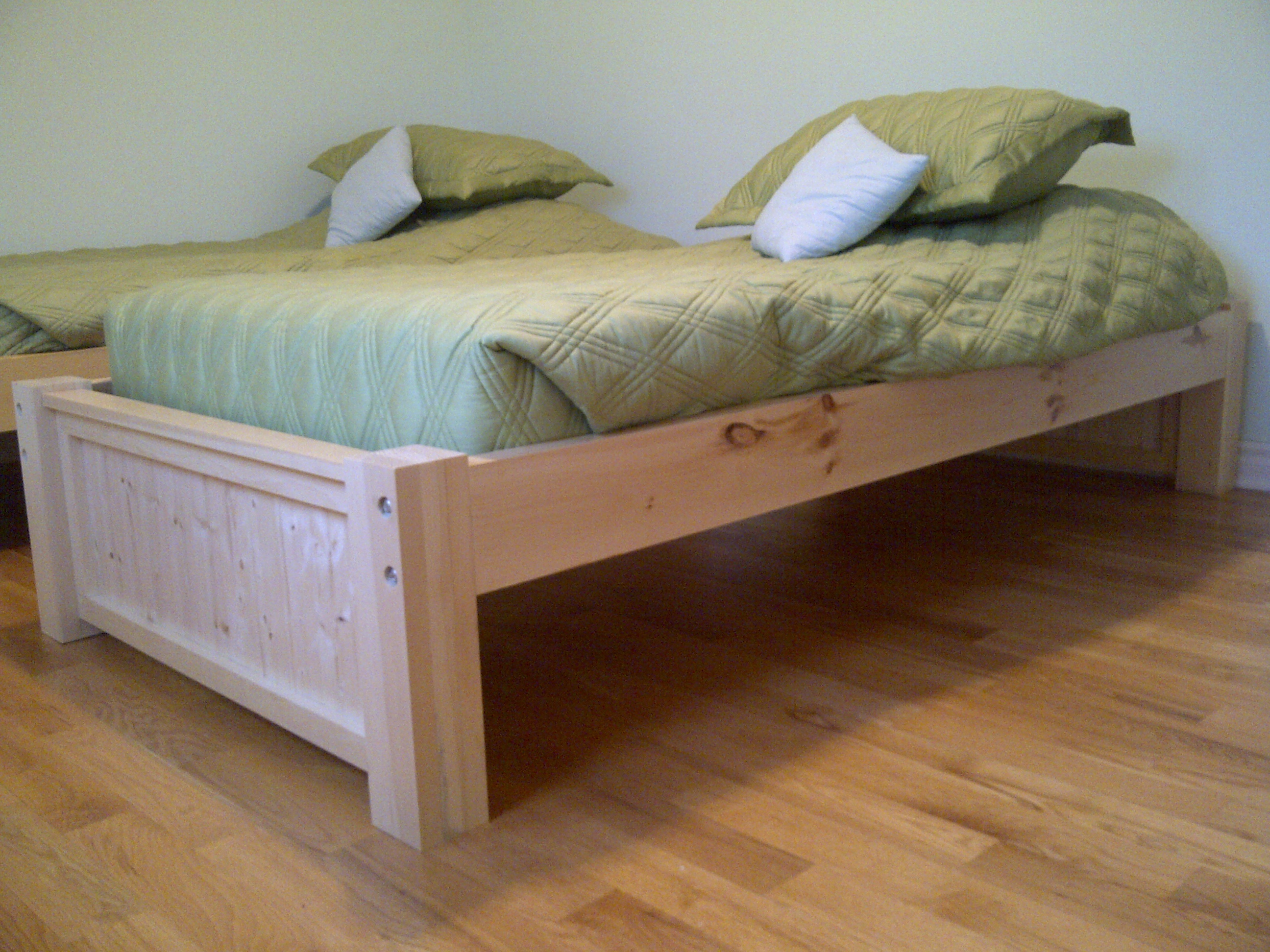 twin platform storage bed plans