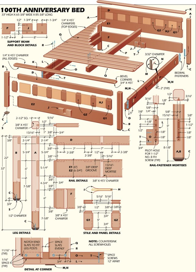 Woodworking Bed Plans