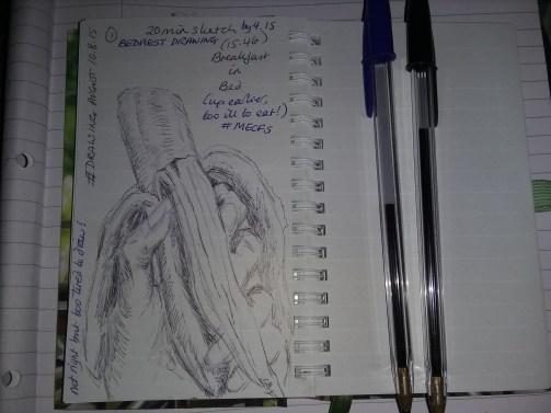 Drawing breakfast in bed (10/08/15)