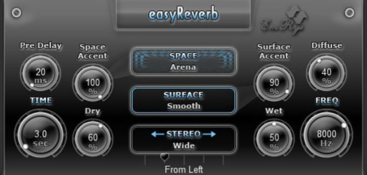 Free easyReverb VST/AU Plugin Released By SaschArt