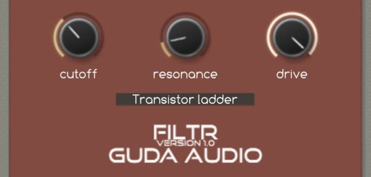 FiltR Is A FREE Multi-Mode Filter VST/AU Plugin By GuDa Audio
