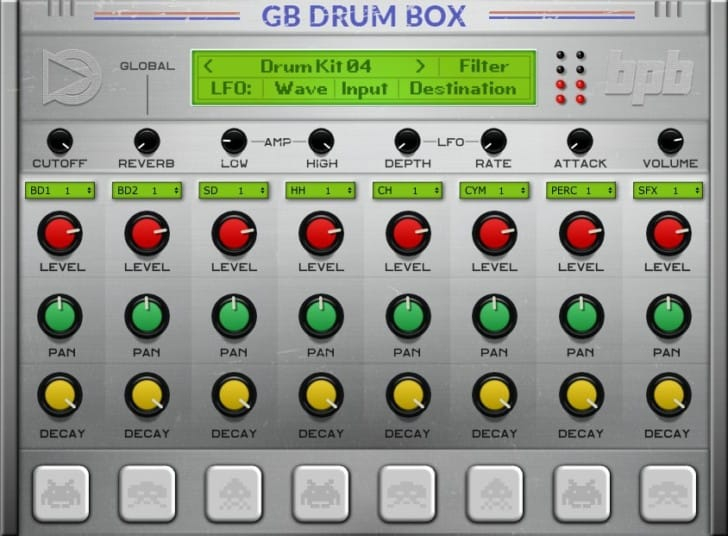 Free Game Boy Virtual Instrument for Mac and PC, GB DrumBox