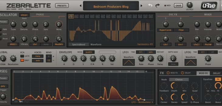 U-He's FREE Zebralette Synthesizer Gets A New GUI
