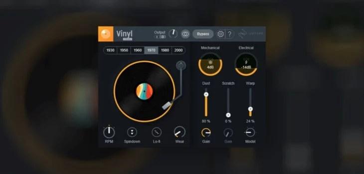 iZotope Re-Releases FREE Vinyl Lo-Fi VST Plugin